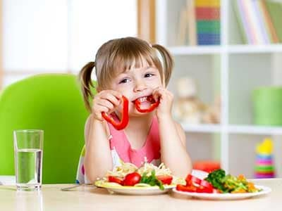 La dieta vegetariana nei bambini