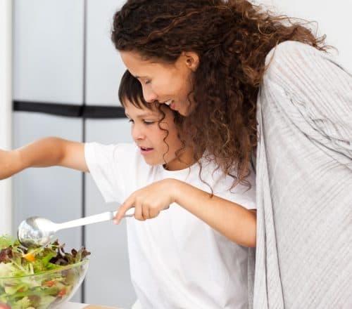 E se l'adolescente sceglie di mangiare vegetariano?