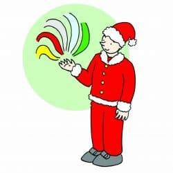 Babbo Natale comanda colore