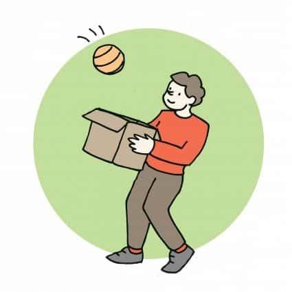 Palla in scatola