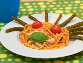 Spaghetti ai fagiolini del buongustaio ricette per bambini 4-10 anni