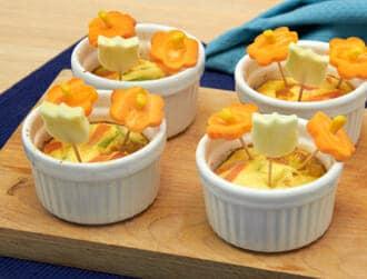 Tortini bouquet di zucchine e carote