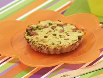Tortini di prosciutto cotto gnam gnam ricette per bambini 1-3 anni
