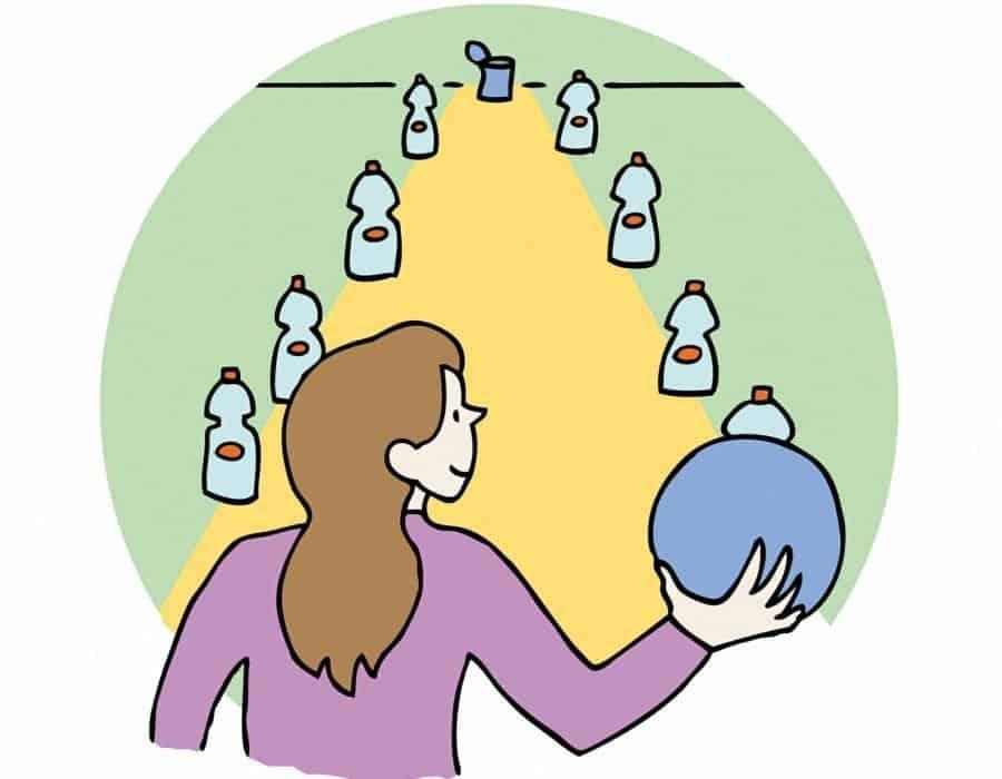 Bowling con bottiglie