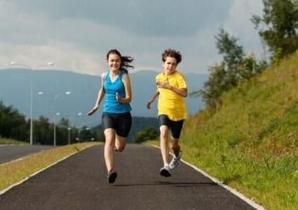 Bambini sport corsa