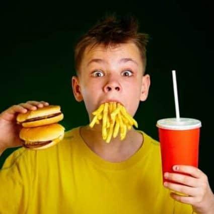 Bambino patatine hamburger (grassi idrogenati)