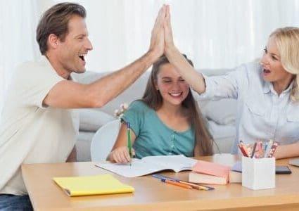 Genitori con figlia