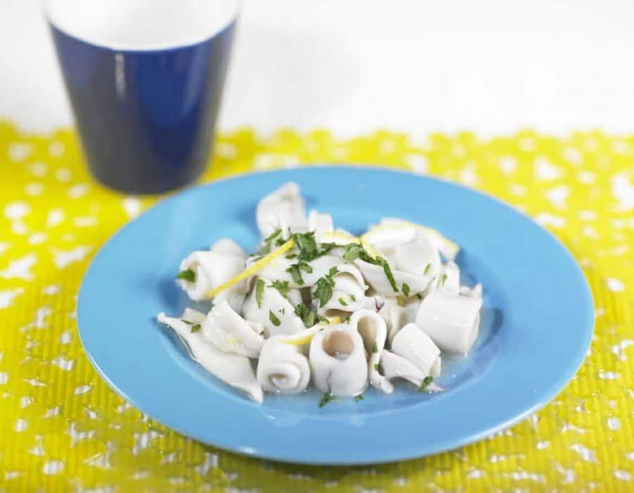 Calamari al profumo di limone Ricette per bambini 4-10 anni
