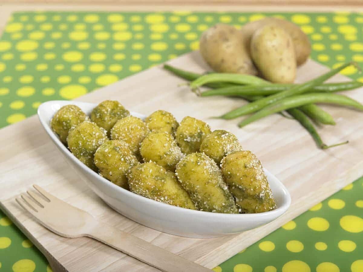 Crocchette di patate e fagiolini