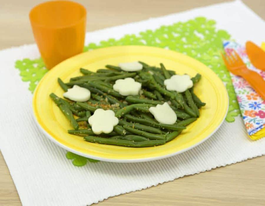 Fagiolini crumble Ricette per bambini 1-3 anni