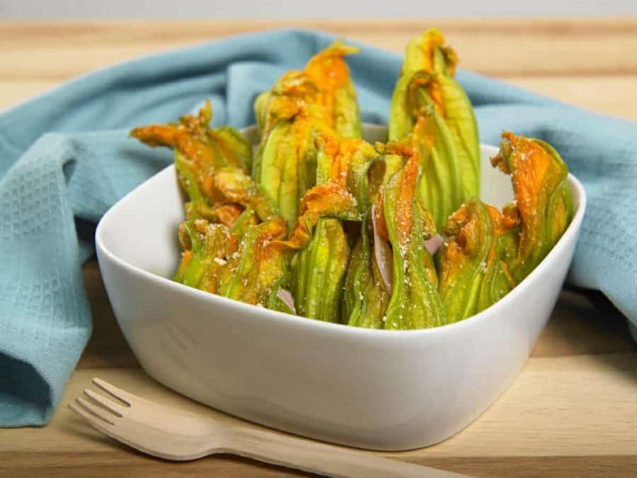 Fiori di zucca al forno ricette per bambini 4-10 anni