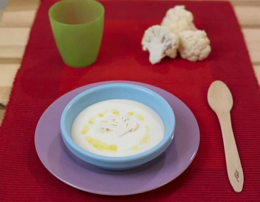 Minestra di cavolfiore ricette per bambini 1-3 anni