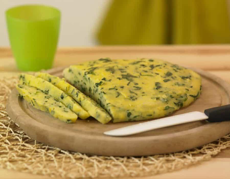 Polenta verde ricetta per bambini 1-3 anni