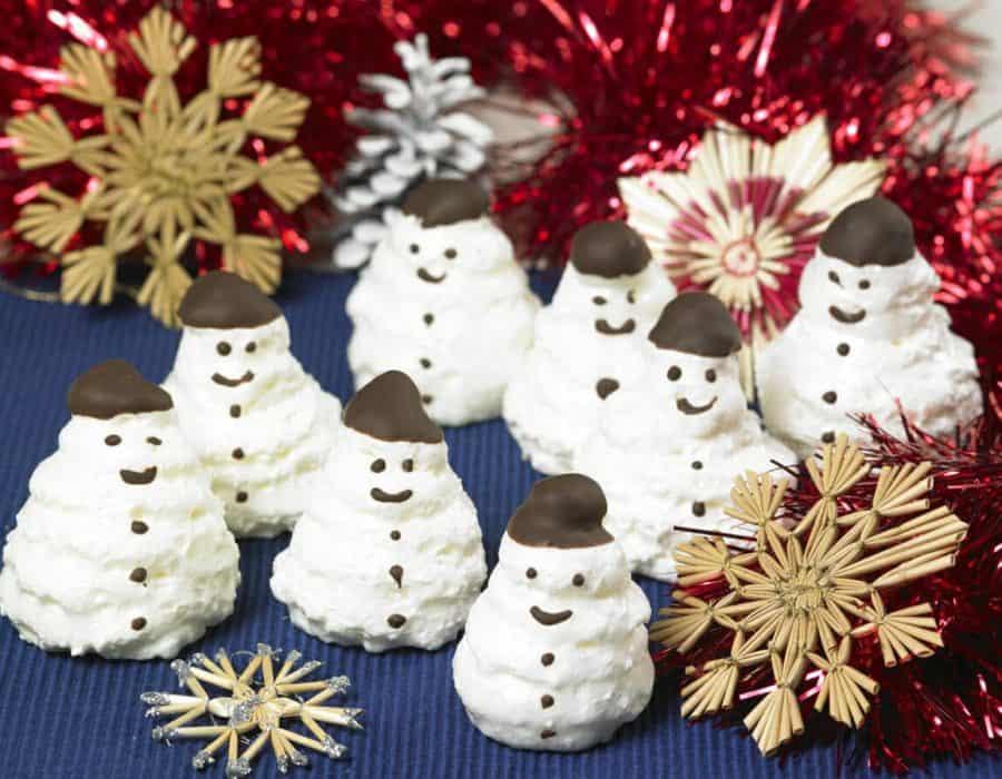 Pupazzetti di neve Ricette per bambini 4-10 anni