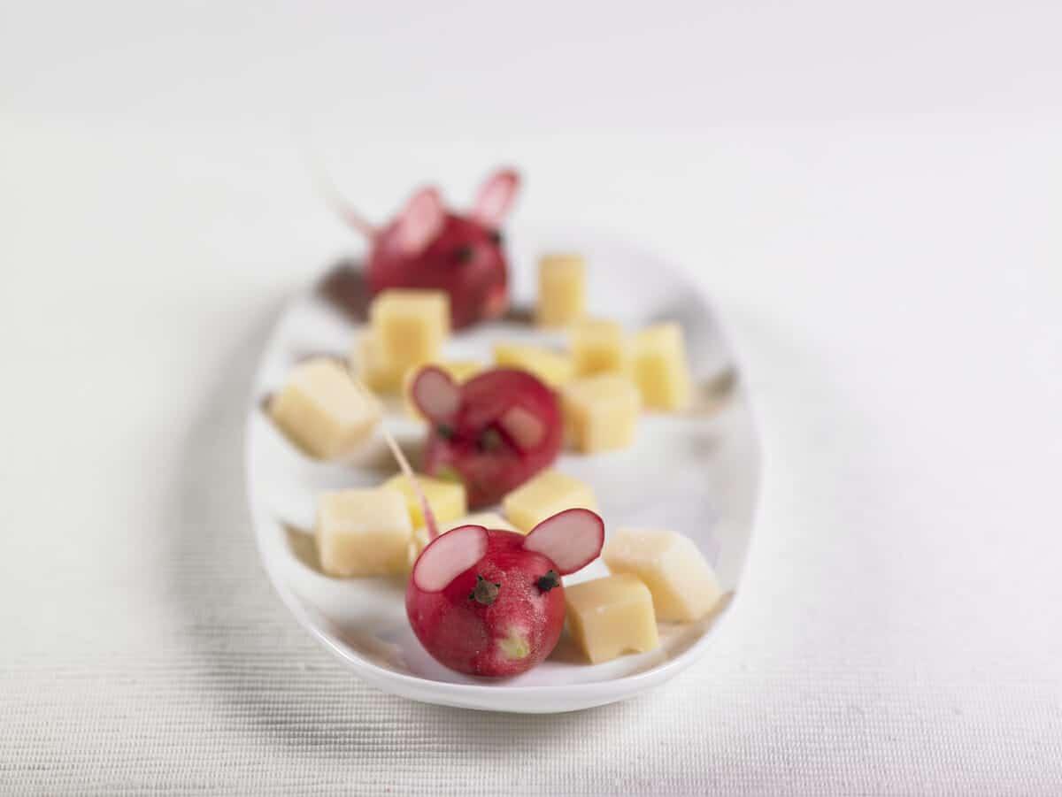 Topini e formaggio