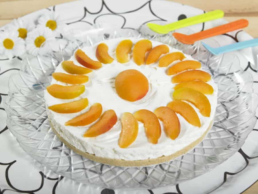 Torta fredda allo yogurt con albicocche ricette per bambini 4-10 anni