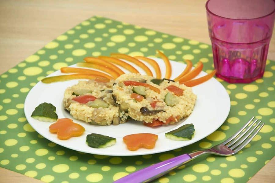 Tortini di miglio crick crock ricette per bambini 4-10 anni