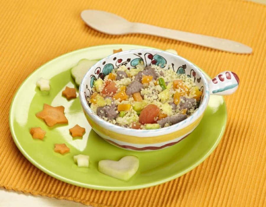Couscous di agnello e verdure Ricette per bambini 1-3 anni