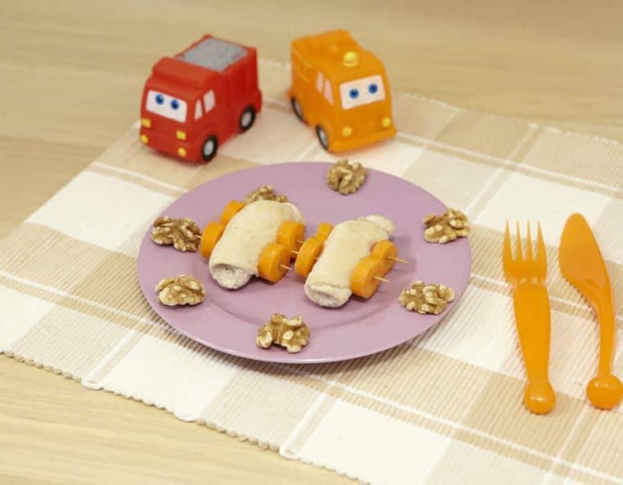Involtini di pollo e noci ricette per bambini 4-10 anni