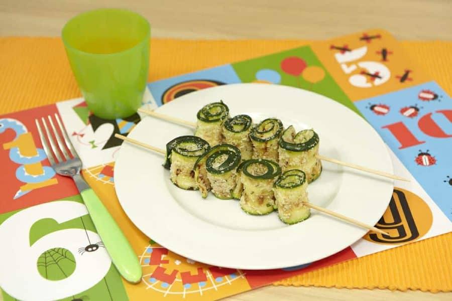 Involtini di zucchine ricette per bambini 4-10 anni