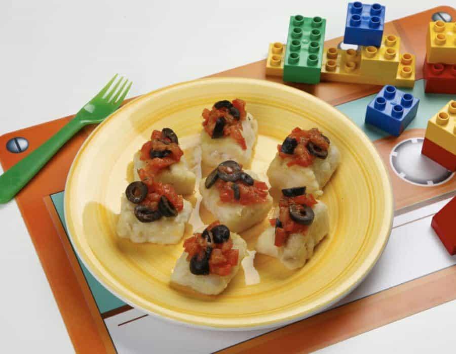 Merluzzo con olive Ricette per bambini 4-10 anni