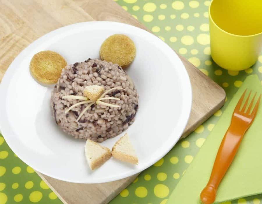Orzo con radicchio e mela ricette per bambini 1-3 anni