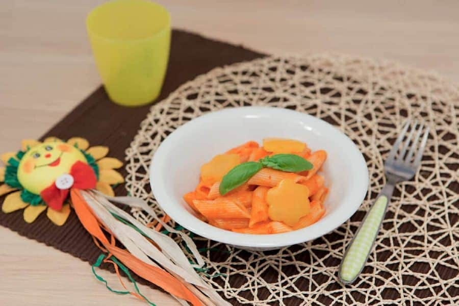 Pennette rosso peperone ricette per bambini 4-10 anni