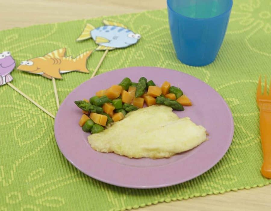 Scaloppina di platessa con verdure ricette per bambini 1-3 anni