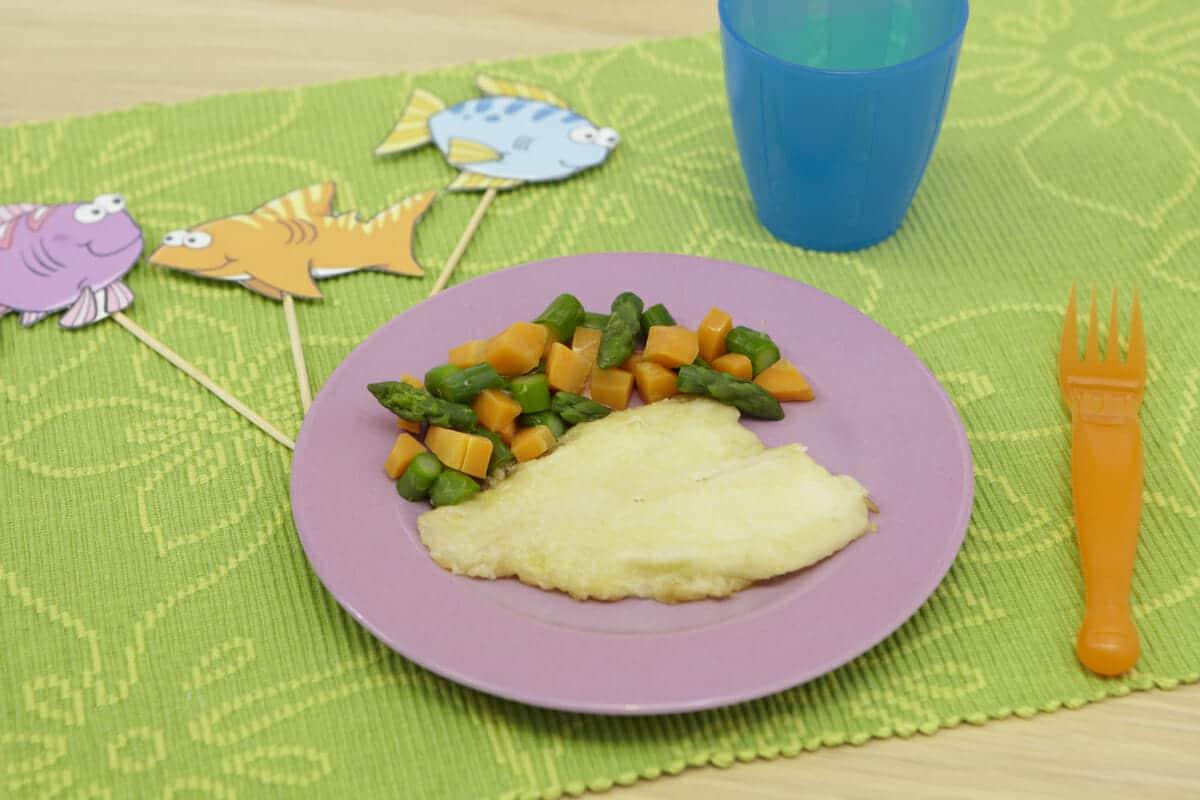 Scaloppina di platessa con verdure