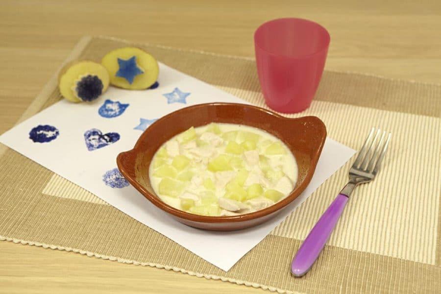 Pollo al latte morbidissimo ricette per bambini 1-3 anni