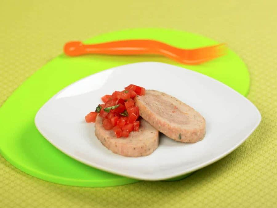 Polpettone di tacchino al basilico ricette per bambini 4-10 anni