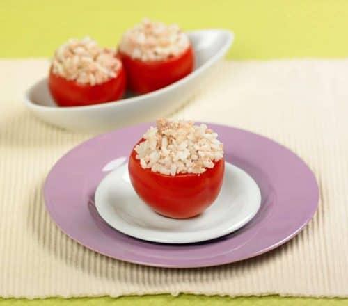Pomodori ripieni di riso e tonno Ricette per bambini 4-10 anni
