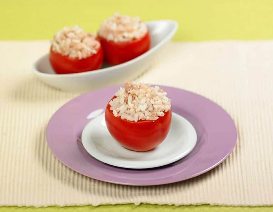 Pomodori ripieni di riso e tonno