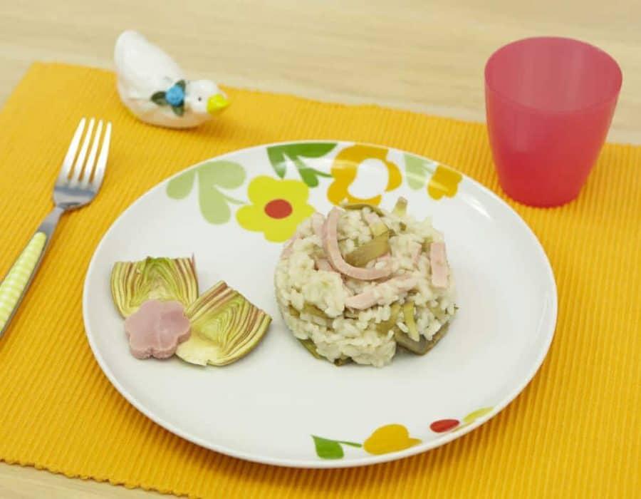 Risotto carciofi e prosciutto Ricette per bambini 4-10 anni