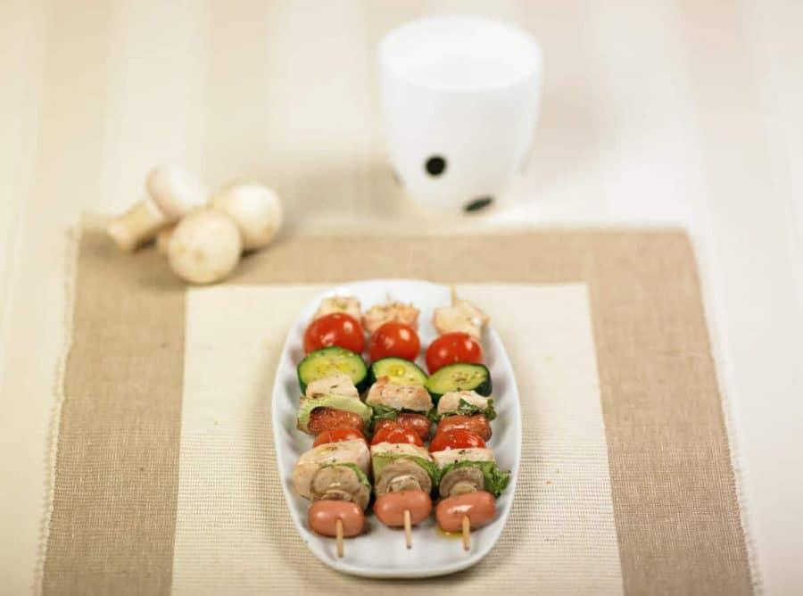 Spiedini di pollo e verdure ricette per bambini 4-10 anni