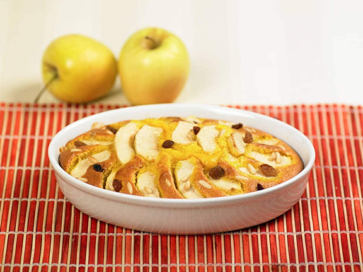 Torta con ricotta e mele
