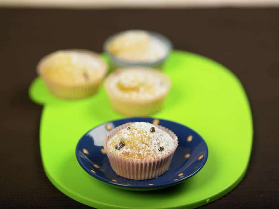 Tortine con farina di mais e uvetta ricette per bambini 4-10 anni