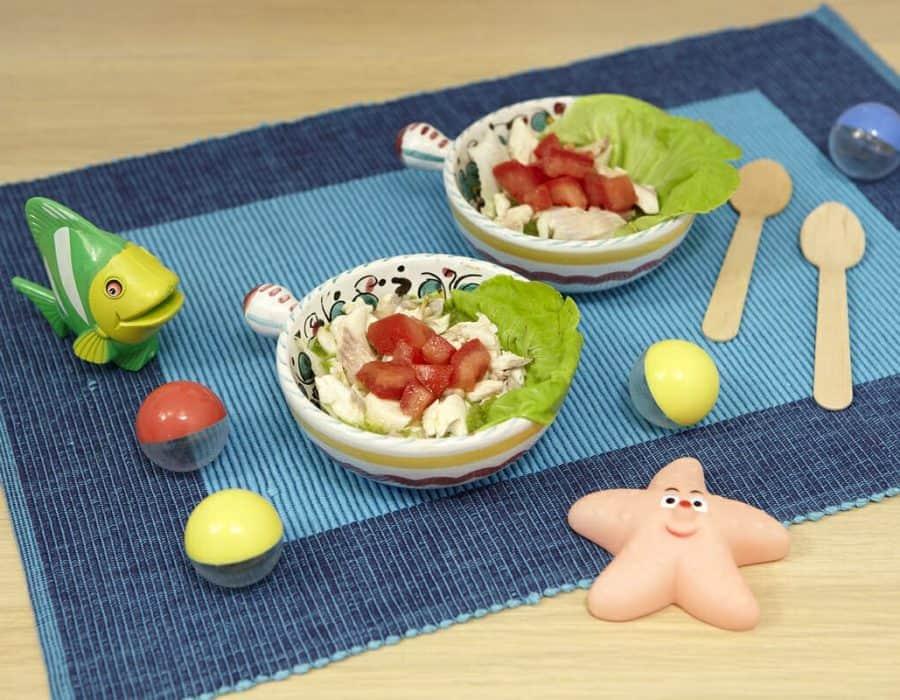 Trota con lattuga ricette per bambini 1-3 anni
