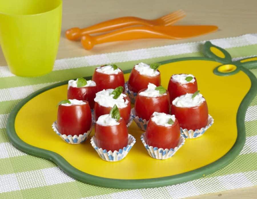 Bocconcini freschi di pomodorini ricette per bambini 1-3 anni