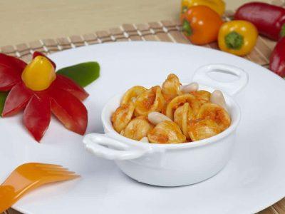 Orecchiette con peperoni e fagioli
