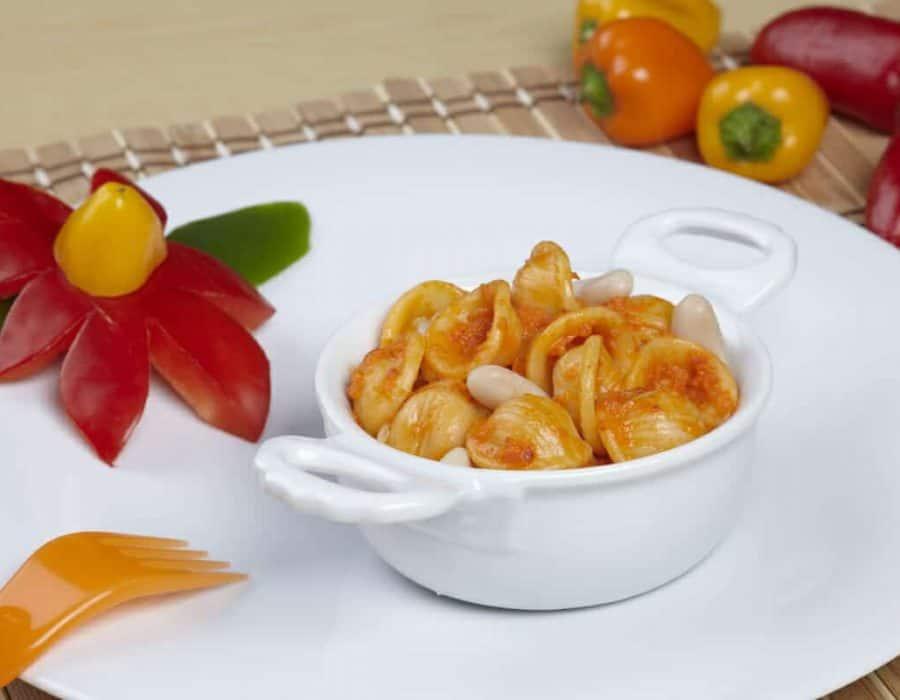 Orecchiette con peperoni e fagioli Ricette per bambini 1-3 anni