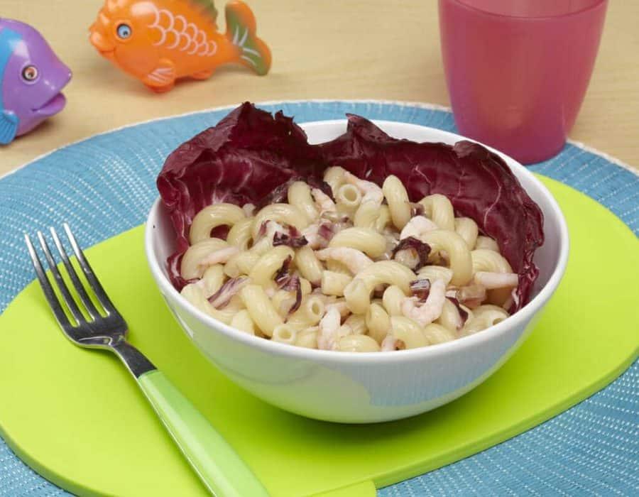 Stortelli gamberetti e radicchio Ricette per bambini 4-10 anni
