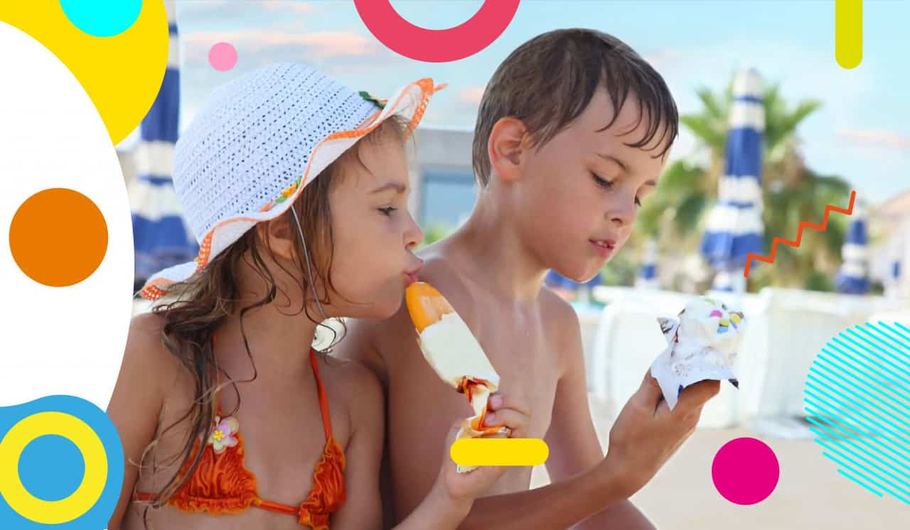 In estate si dimagrisce: falsi miti sull'estate, bambini mangiano gelato - alimentazionebambini. It by coop