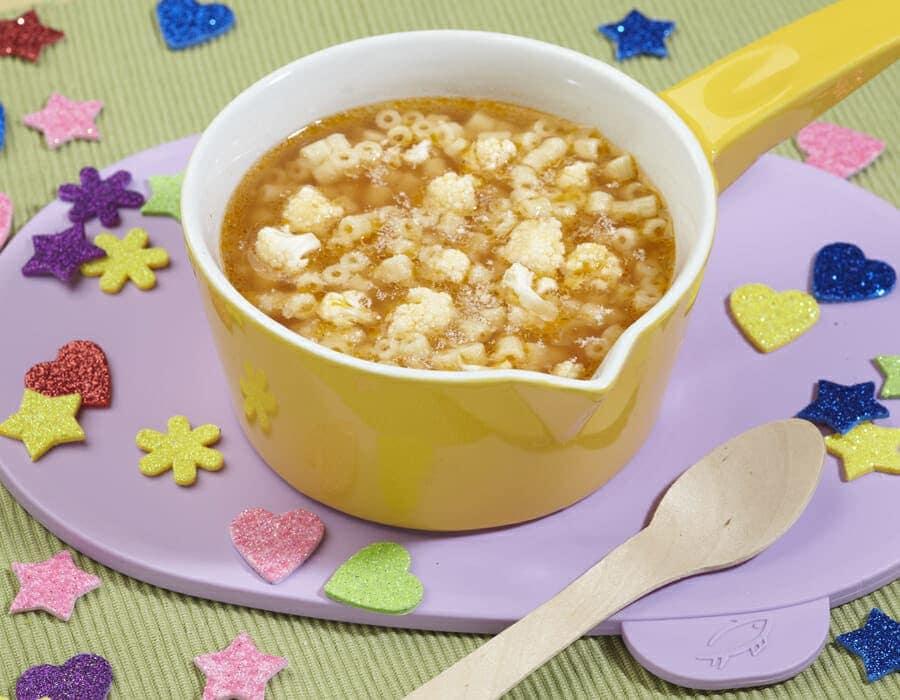 Minestrina con bianche nuvolette ricette per bambini 1-3 anni