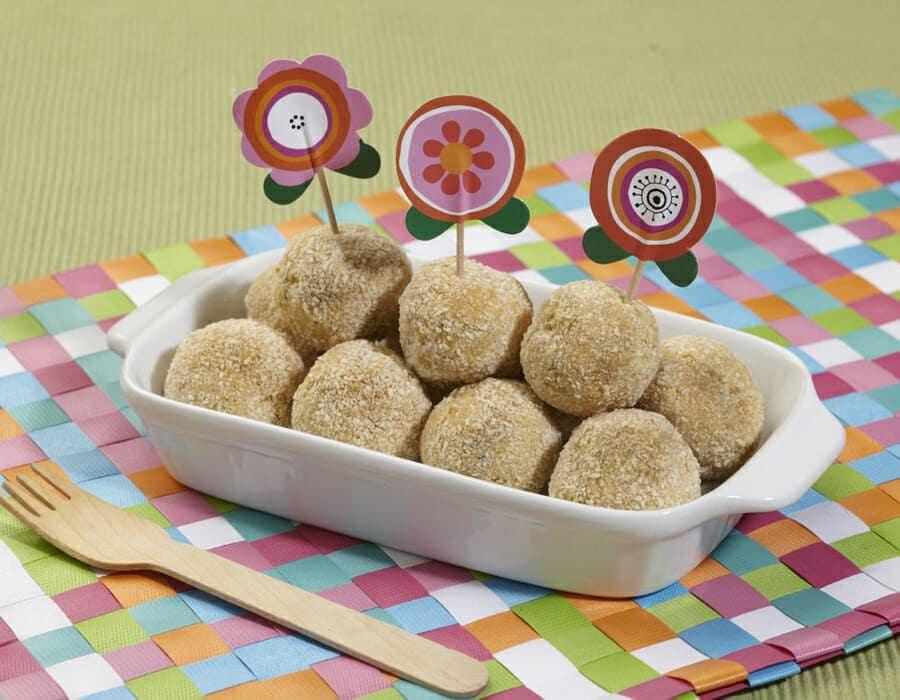 Polpette di platessa e mais ricette per bambini 1-3 anni