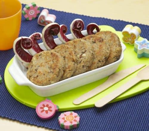 Hambuerger radicchio e fagioli Ricette per bambini 1-3 anni