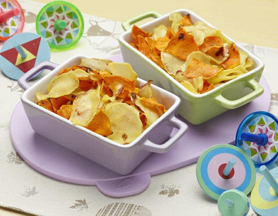 Patatine bicolore Ricette per bambini 4-10 anni