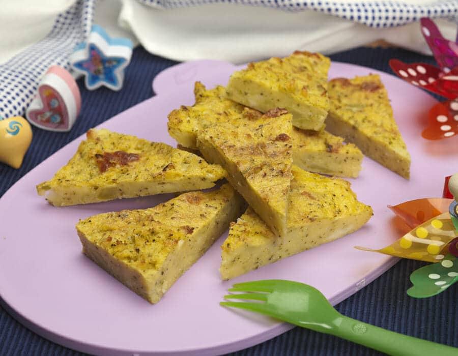 Pizza-polenta Ricette per bambini 1-3 anni