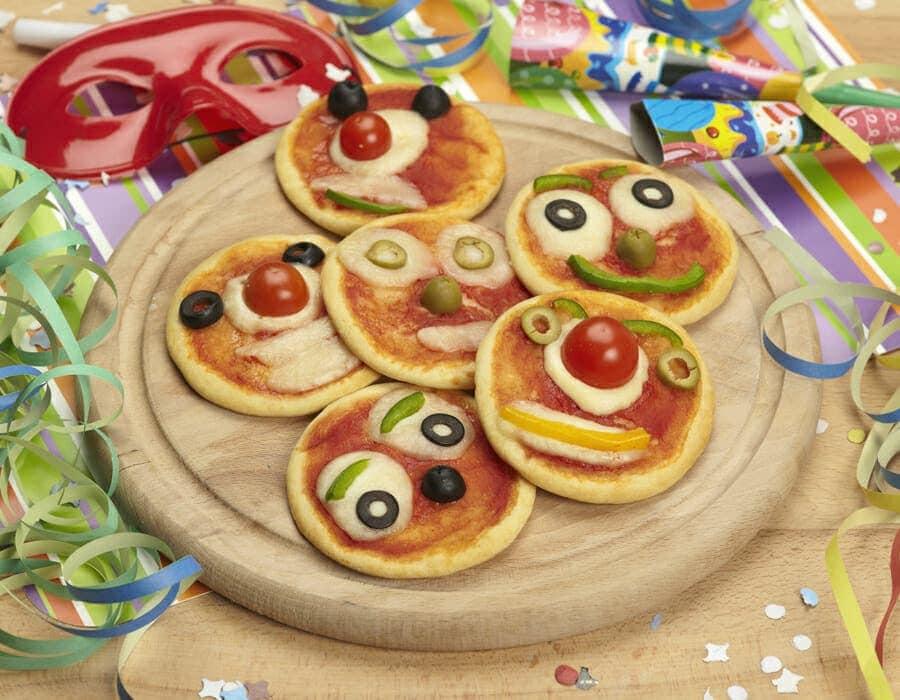Pizze pagliaccio ricette per bambini 4-10 anni