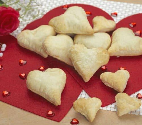Cuori degli innamorati ripieni di salmone Ricette per bambini 4-10 anni